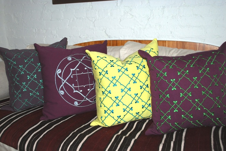 Olya and Zina collection of pillows.